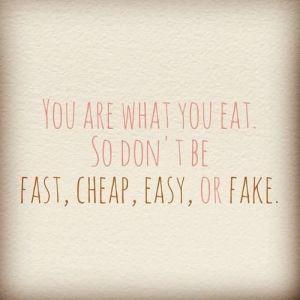 Je bent wat je eet